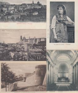 MARCHE ITALIE  ITALY 35 Cartes Postales 1900-1940.