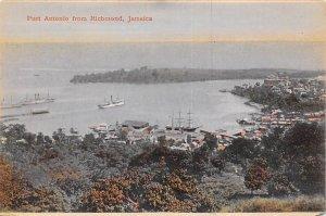 Jamaica, Jamaique Post card Old Vintage Antique Postcard Port Antonio from Ri...