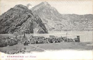 Vintage c 1902 Switzerland Postcard, Stansstad und Pilatus X75