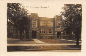 Crestline Ohio~New High School Ready For School Year (Summer Trees) RPPC 1913