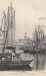 CONCARNEAU, France,1910-1920s, L'Arriere-Port et vue sur la Ville Close
