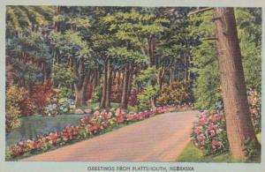 Nebraska Greetings From Plattsmouth 1946