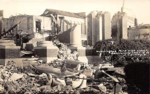 Huntington Park California~High School Destroyed by Earthquake~1933 RPPC