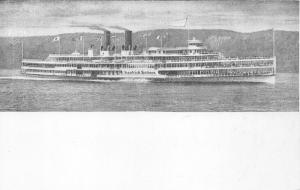 New York~Hudson River Dayline Steamer Ship Hendrick Hudson~Former Navy Ship~1905