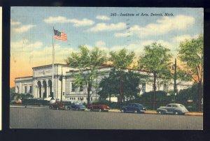 Detroit, Michigan/MI Postcard, Institute Of Arts