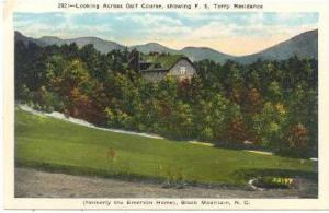 Looking Across Golf Course, Showing F.S. Terry Residence, Black Mountain, Nor...