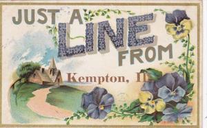 Greetings From Kempton Illinois 1909