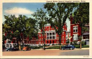 Maine Lewiston Central Maine General Hospital 1944 Curteich