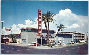 Phoenix, Arizona Postcard SAHARA HOTEL 402 N. First Street Roadside 1950s Chrome