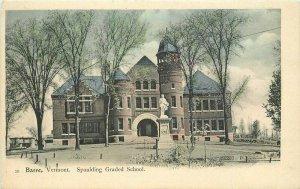 Barre Vermont Spaulding Grade School #39 C-1905 Postcard Leighton 21-7484