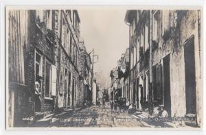 RPPC Photo Postcard 1900's? Little Champlain Street + Brknk Steps Quebec, Canada
