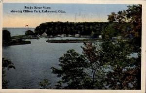Rocky River View, Clifton Park Lakewood OH 1914