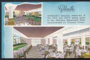 Tennesee Interior GOLDSMITH'S Restaurant in any Memphis Department Store - LINEN