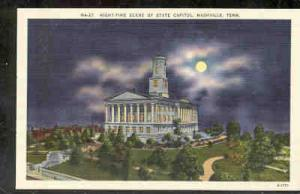 Tennessee colour PC  Night View State Capitol, Nashville, Tenn unused