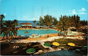 Vtg 1960s Grand Bahama Hotel & Country Club Grand Bahama Island Bahamas Postcard