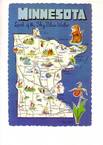Minnesota, Pictorial State Map,
