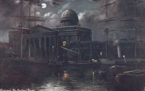 TUCK #6443, 1900-10s; LIVERPOOL, England, The Customs' Hotel at Night