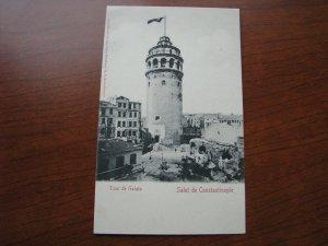 Turkey Postcard 1900-06 UBD Unused Constantinople Tower Galata