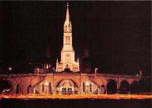 France Lourdes La Basilica di Notte La Basilique de Nuit