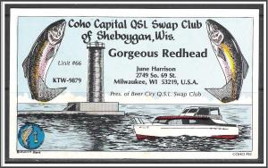 Wisconsin, QSL Ham Radio Coho Capital Swap Club - (MX-003)