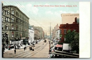Albany NY~North Pearl Street @ State~Home Savings Bank~Corner Store Shoppers~'08