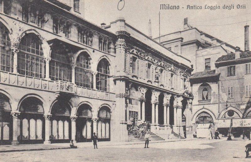 Milano (Lombardy), Italy, 1900-1910s ; Antica Loggia degli Osii