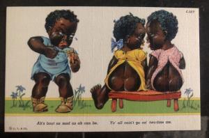 Mint Black Americana Postcard Mad Baby