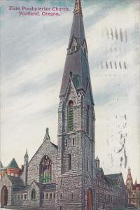 Exterior,  First Presbyterian Church,  Portland,  Oregon,  PU_1909