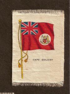 TURN OF CENTURY CIGARETTE SILK - CAPE COLONY FLAG