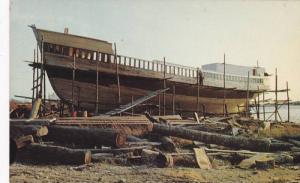Fishing Dragger Ship construction, SHELBURNE , Nova Scotia , Canada , 50-60s