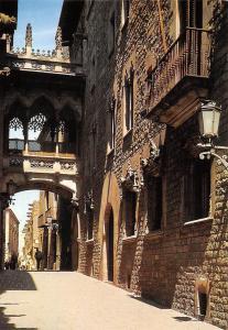 Spain Barcelona Calle Obispo Irurita Barrio Gotico Bishop Irurita