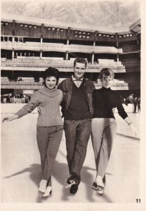 RP: Male Figure Skater with two female skaters, 1963 (2)