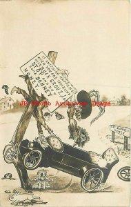 Advertising Postcard, RPPC, Bonney Honey, Buck Grove Iowa, 1913 PM, Photo
