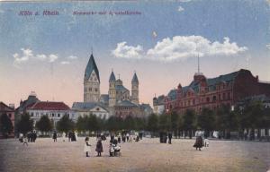 KOLN a. RHEIN, North Rine-Westphalia, Germany; Neumarkt mit Apostelkirche, 00...
