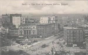 Michigan Detroit Birds Eye View Of Campus Martius 1906