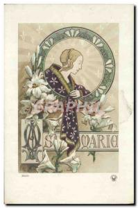 Old Postcard Fancy Marie Surname