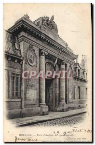Old Postcard Moulins Main Gate of the Lycee Banville