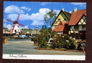 CA Windmill Wind Mill Danish Village Solvang California Postcard