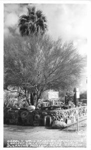 Buckhorn 1940s Garden Wall Indian Grindstone RPPC Mesa Arizona 1841 Frasher
