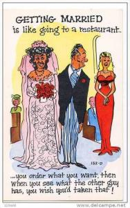 Comic - Getting Married like going to a restaurant - See what the other guy H...