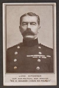 Lord Kitchener - Non-Political War Minister - Unused
