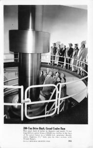 Grand Coulee Dam Washington~Tourists Examine 200 Ton Drive Shaft~1950s RPPC