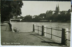 Switzerland Basel am Rheinweg RPPC - unposted