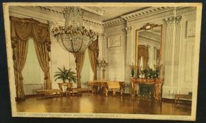 Postcard Unused 7697-A Corner of the East Room White House Washington DC LB