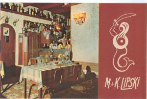 Restaurant M. & K. Lipski, Jaffa, Israel, unused Postcard