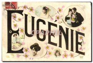 Old Postcard Fancy Eugenie Surname