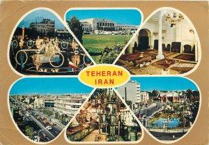 Postcard Iran Teheran several aspects and sights
