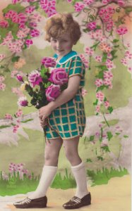 RP: Child with flowers , 00-10s