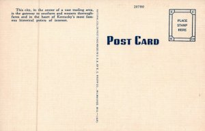 Public Square Elizabethtown Kentucky Coca-Cola Cars Vintage Linen Post Card