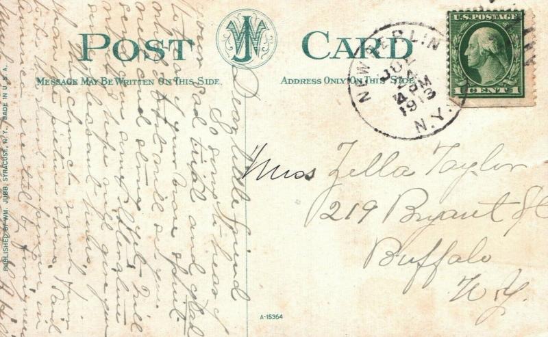 Syracuse, NY, Sacred Heart Polish Church, 1913 Vintage Postcard f8986